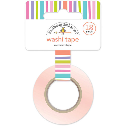 Doodlebug Design - Fairy Tales Collection - Washi Tape - Mermaid Stripe