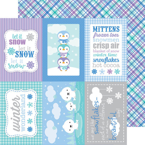 Doodlebug Design - Polar Pals Collection - 12 x 12 Double Sided Paper - Winter Weave