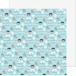 Doodlebug Design - Polar Pals Collection - 12 x 12 Double Sided Paper - Floating Friends