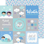 Doodlebug Design - Polar Pals Collection - 12 x 12 Double Sided Paper - Snow Dots
