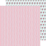 Doodlebug Design - Sweet Things Collection - 12 x 12 Double Sided Paper - Heart Strings