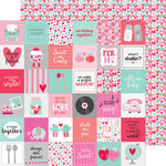 Doodlebug Design - Sweet Things Collection - 12 x 12 Double Sided Paper - Tiny Valentines