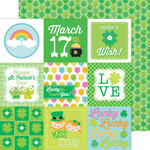 Doodlebug Design - Pot O Gold Collection - 12 x 12 Double Sided Paper - Clover Patch