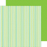 Doodlebug Design - Pot O Gold Collection - 12 x 12 Double Sided Paper - Lucky Stripes