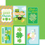 Doodlebug Design - Pot O Gold Collection - 12 x 12 Double Sided Paper - Shamrock Gingham