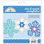 Doodlebug Design - Polar Pals Collection - Craft Kit - Snowflakes