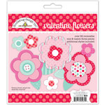 Doodlebug Design - Sweet Things Collection - Craft Kit - Valentine Flowers