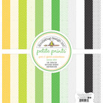 Doodlebug Design - Pot O Gold Collection - 12 x 12 Paper Pack - Swiss Dot Petite Print Assortment