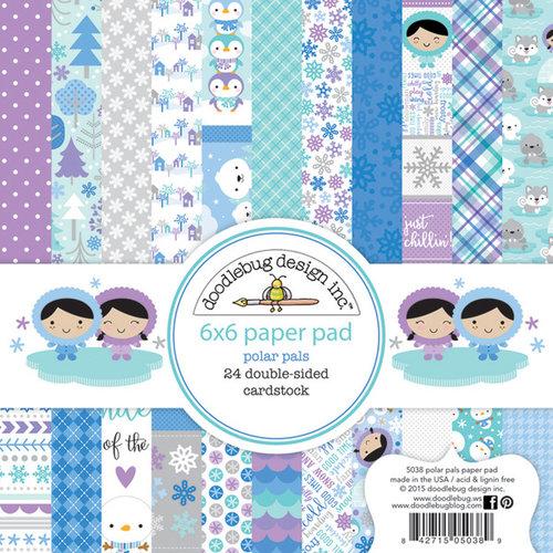 Doodlebug Design - Polar Pals Collection - 6 x 6 Paper Pad
