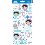 Doodlebug Design - Polar Pals Collection - Cardstock Stickers - Icons