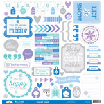 Doodlebug Design - Polar Pals Collection - 12 x 12 Cardstock Stickers - This and That