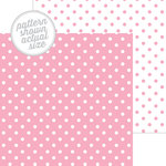 Doodlebug Design - 12 x 12 Double Sided Paper - Swiss Dot Petite Print - Cupcake