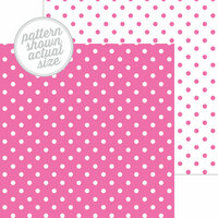Doodlebug Design - 12 x 12 Double Sided Paper - Swiss Dot Petite Print - Bubblegum