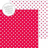 Doodlebug Design - 12 x 12 Double Sided Paper - Swiss Dot Petite Print - Ladybug