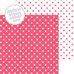 Doodlebug Design - 12 x 12 Double Sided Paper - Swiss Dot Petite Print - Cherry