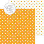Doodlebug Design - 12 x 12 Double Sided Paper - Swiss Dot Petite Print - Tangerine