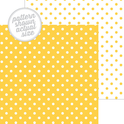 Doodlebug Design - 12 x 12 Double Sided Paper - Swiss Dot Petite Print - Bumblebee