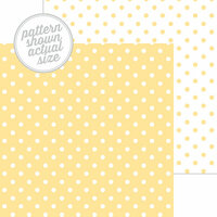 Doodlebug Design - 12 x 12 Double Sided Paper - Swiss Dot Petite Print - Lemon