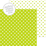 Doodlebug Design - 12 x 12 Double Sided Paper - Swiss Dot Petite Print - Citrus
