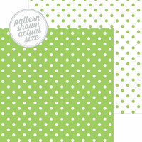 Doodlebug Design - 12 x 12 Double Sided Paper - Swiss Dot Petite Print - Limeade