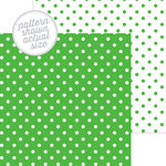 Doodlebug Design - 12 x 12 Double Sided Paper - Swiss Dot Petite Print - Grasshopper