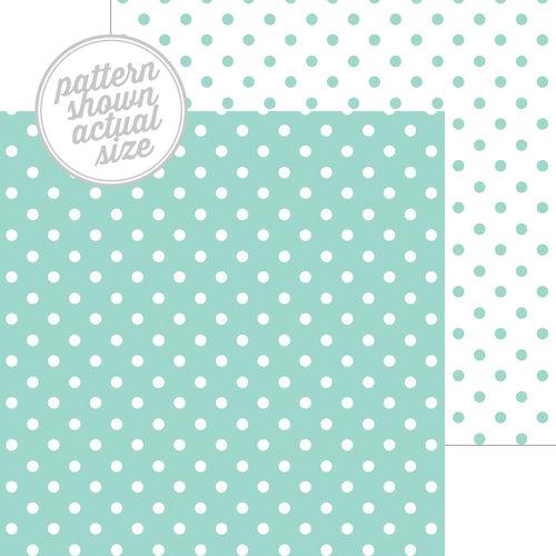 Doodlebug Design - 12 x 12 Double Sided Paper - Swiss Dot Petite Print - Pistachio