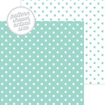 Doodlebug Design - 12 x 12 Double Sided Paper - Swiss Dot Petite Print - Pistachio