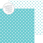 Doodlebug Design - 12 x 12 Double Sided Paper - Swiss Dot Petite Print - Swimming Pool