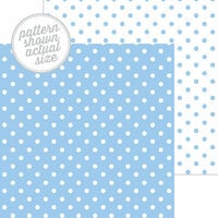Doodlebug Design - 12 x 12 Double Sided Paper - Swiss Dot Petite Print - Bubble Blue