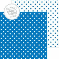 Doodlebug Design - 12 x 12 Double Sided Paper - Swiss Dot Petite Print - Blue Jean