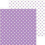 Doodlebug Design - 12 x 12 Double Sided Paper - Swiss Dot Petite Print -Orchid
