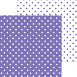 Doodlebug Design - 12 x 12 Double Sided Paper - Swiss Dot Petite Print - Lilac