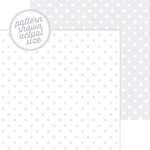 Doodlebug Design - 12 x 12 Double Sided Paper - Swiss Dot Petite Print - Lily White
