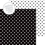 Doodlebug Design - 12 x 12 Double Sided Paper - Swiss Dot Petite Print - Beetle Black