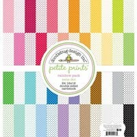 Doodlebug Design - 12 x 12 Paper Pack - Rainbow Swiss Dot Petite Print Assortment