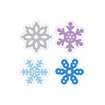 Doodlebug Design - Polar Pals Collection - Cardstock Stickers - Sweet Rolls - Mini Icons - Flurry