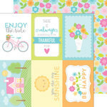 Doodlebug Design - Spring Garden Collection - 12 x 12 Double Sided Paper - Garden Girl