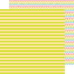 Doodlebug Design - Spring Garden Collection - 12 x 12 Double Sided Paper - Lemon Lime