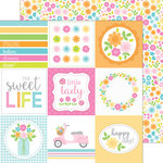 Doodlebug Design - Spring Garden Collection - 12 x 12 Double Sided Paper - Spring Garden