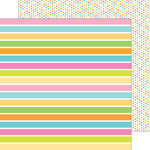 Doodlebug Design - Spring Garden Collection - 12 x 12 Double Sided Paper - Fruit Stripe