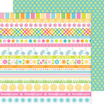 Doodlebug Design - Spring Garden Collection - 12 x 12 Double Sided Paper - Kiwi Dot
