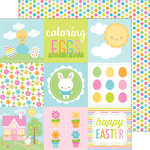 Doodlebug Design - Bunnyville Collection - 12 x 12 Double Sided Paper - Coloring Eggs