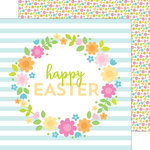 Doodlebug Design - Bunnyville Collection - 12 x 12 Double Sided Paper - Happy Easter