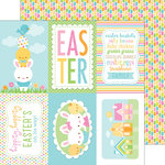 Doodlebug Design - Bunnyville Collection - 12 x 12 Double Sided Paper - Rainbow Jellies