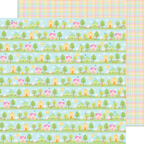 Doodlebug Design - Bunnyville Collection - 12 x 12 Double Sided Paper - Bunnyville