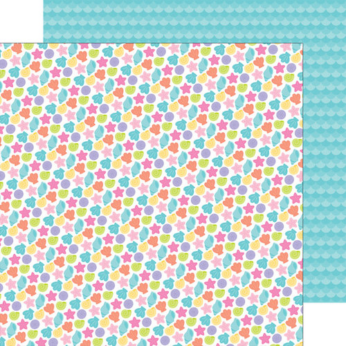 Doodlebug Design - Under the Sea Collection - 12 x 12 Double Sided Paper - Beach Treasures