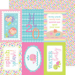Doodlebug Design - Under the Sea Collection - 12 x 12 Double Sided Paper - Water Lilies