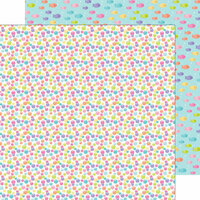 Doodlebug Design - Under the Sea Collection - 12 x 12 Double Sided Paper - Rainbow Bubbles