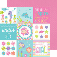 Doodlebug Design - Under the Sea Collection - 12 x 12 Double Sided Paper - Pink Pearls