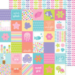 Doodlebug Design - Under the Sea Collection - 12 x 12 Double Sided Paper - Coral Reef